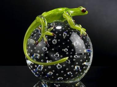 Glass decorative object SPHERE WITH GEKO