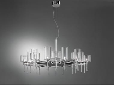 Direct light halogen crystal chandelier SPILLRAY | Chandelier
