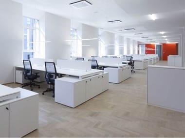 Armoire de bureau basse en bois SPLIT | Armoire de bureau basse