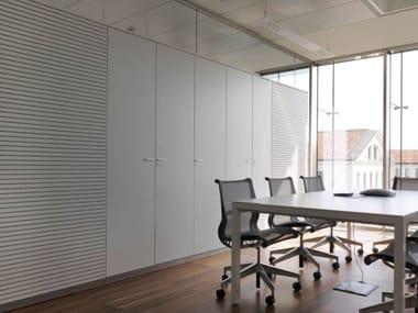 Armoire de bureau en bois avec portes à battant SPLIT | Armoire de bureau