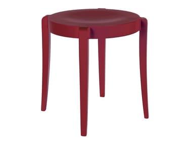 Low stackable beech stool SPOCK SG01
