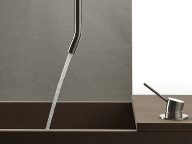 Ceiling-mounted stainless steel sink spout CORSIVO 11001