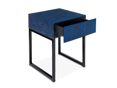 Square OSB bedside table with drawers SPRING | Bedside table