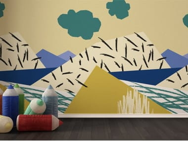Washable kids wallpaper SPRING WINDOW