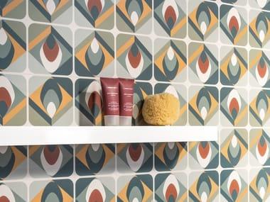 Rivestimento rettificato in ceramica a pasta bianca per interni SPRINGPAPER 03