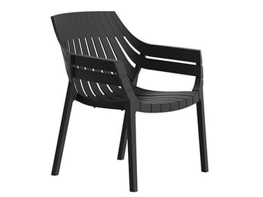 Garden polypropylene easy chair with armrests SPRITZ | Easy chair