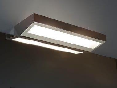 Applique a luce diretta e indiretta alogena in acciaio inox SQUADRO36