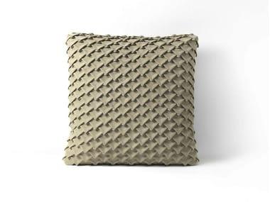 Square leather cushion SQUAMA