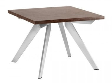 Square wooden coffee table PLATINUM | Square coffee table