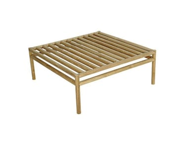 Square teak garden side table WOO SYSTEM | Square coffee table
