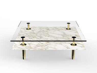 Square marble coffee table LEGS | Square coffee table