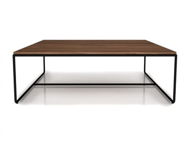 Square walnut coffee table LINEA | Square coffee table