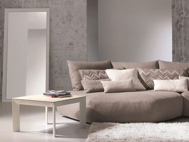 Square tempered glass coffee table MOON | Square coffee table