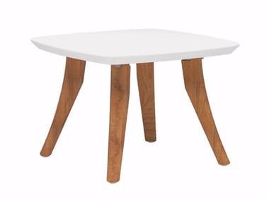Tavolino basso da giardino quadrato in ceramica ZIDIZ | Tavolino quadrato