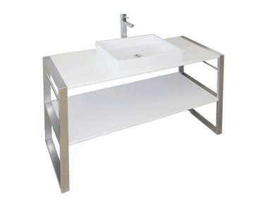 Consolle lavabo in Pietraluce® SQUARE B1 | Consolle lavabo