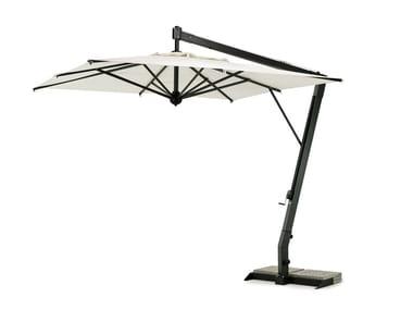 Sombrilla cuadrado de aluminio con soporte lateral SALENTO | Sombrilla cuadrado