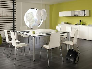 Mesa de reunión cuadrada PALMA | Mesa de reunión cuadrada