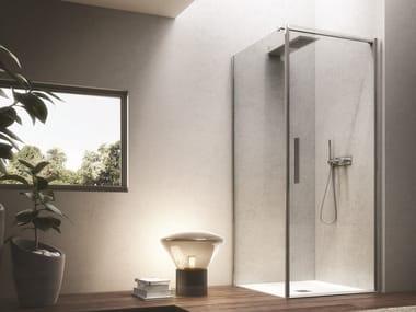 Cabine de douche d'angle carré LUCE | Cabine de douche carré