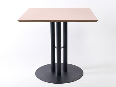 Lacquered square steel and wood table CHAILLOT | Square table