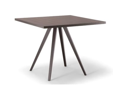 Square solid wood table MILANO | Square table