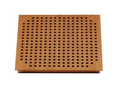 Wooden decorative acoustical panel SQUARE TILE 60