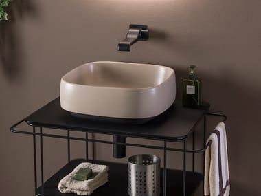 Square ceramic washbasin FLAG | Square washbasin