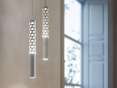 Lampada a sospensione a LED in alluminio SQUIGGLE H6