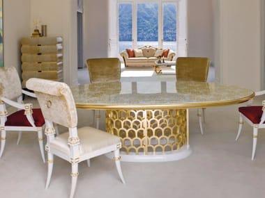 Tavolo da salotto ovale in vetro ST136 | Tavolo