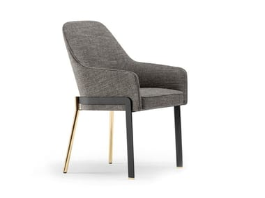 Fabric chair with armrests STACY