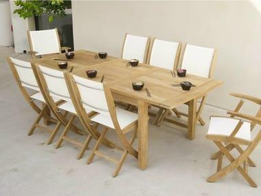 Tavolo allungabile da giardino da pranzo in teak STAFFORD | Tavolo da giardino