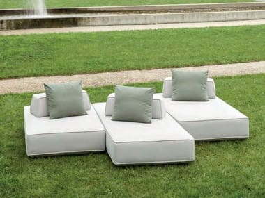 Fabric garden sofa with removable cover STAGE | Garden sofa