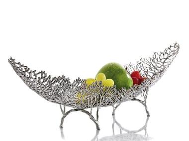 Tin fruit bowl / centerpiece REEF   Fruit bowl