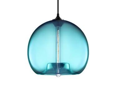 LED handmade blown glass pendant lamp STAMEN