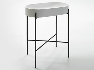 Console Livingtec® washbasin STAND | Single washbasin