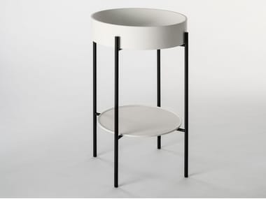 Console round Livingtec® washbasin STAND | Console washbasin