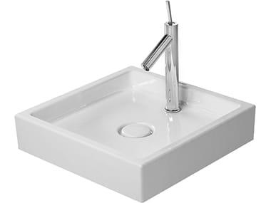 Lavabo da appoggio quadrato in ceramica STARCK 1 | Lavabo da appoggio