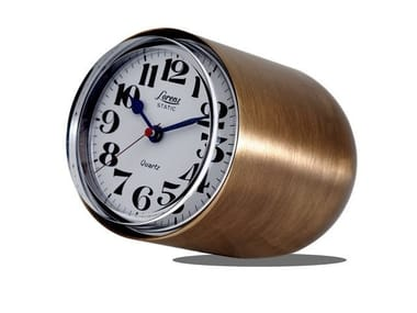 Table-top brushed steel clock STATIC EXCLUSIVE