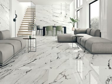 Ceramic wall/floor tiles with marble effect STATUARIO PLUS