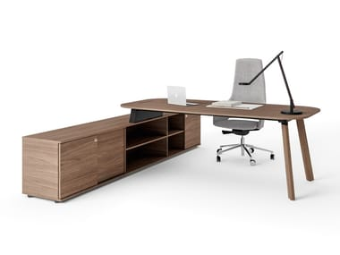 Wooden executive desk with shelves STAY EXECUTIVE