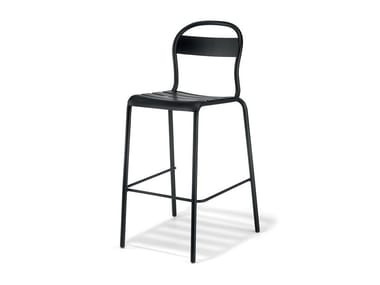 High stackable plate stool STECCA 5