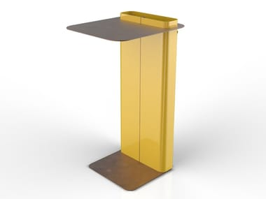 Lacquered steel high table DAD | Steel table