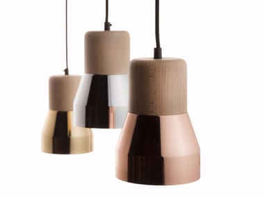 Direct light pendant lamp STEEL WOOD LAMP 130 LUXE