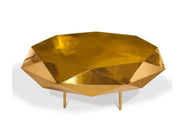 Low octagonal metal coffee table STELLA | Low coffee table