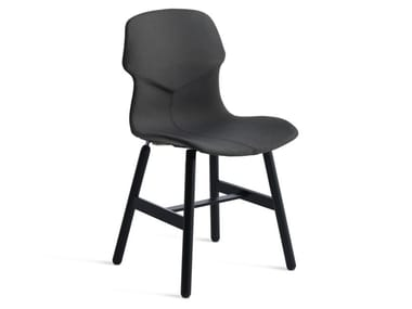 Upholstered fabric chair with removable cover STEREO METAL IMBOTTITA FRONTE/RETRO