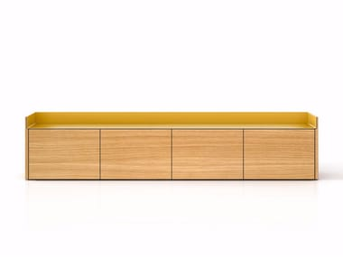 Suspended wooden sideboard with doors STH401 | Sideboard with doors