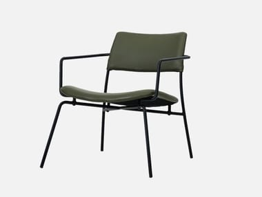 Leather easy chair with armrests STILO CHAIR | Easy chair