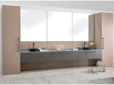 Vanity unit with mirror STILO | Vanity unit