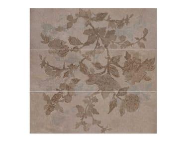 Rivestimento in ceramica a pasta bianca effetto pietra STONE_ART | Decoro Bloom Moka