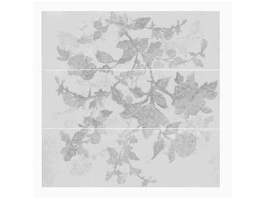 Rivestimento in ceramica a pasta bianca effetto pietra STONE_ART | Decoro Bloom Steel