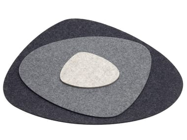 Felt drink coaster / placemat STONE